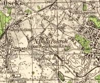 Osada Pokrok na mapě III. vojenské mapování - 1 : 75 000. (1877-1880 )