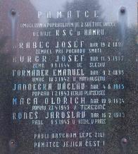 Pomník památce umučeným a popraveným v Hamru