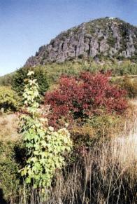 Ukázka geologické stavby vrchu Zlatník