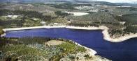 Údolní přehrada Fláje, zásobuje vodou značnou část Ústeckého kraje