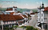 Ulice Bismarck Strasse v r.1911. Dnes ulice 9.května