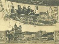 Litvínov ve znamení Lidové písně  Podle všeho se jedná o tématickou pohlednici z mezinárodního hudebního festivalu Lidové písně v Litvínově. Pravděpodobně se jedná o foto po r. 1904, protože již stojí budova soudu
