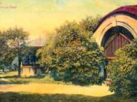 Zelené zákoutí s altánkem na Resslu kolem roku 1910