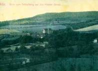 Snímek z roku 1912 zachytil klášter v Zahražanech i s jeho přírodním okolím