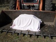 Transport kamene do litvínovského zámku.