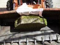 Transport kamene do litvínovského zámku